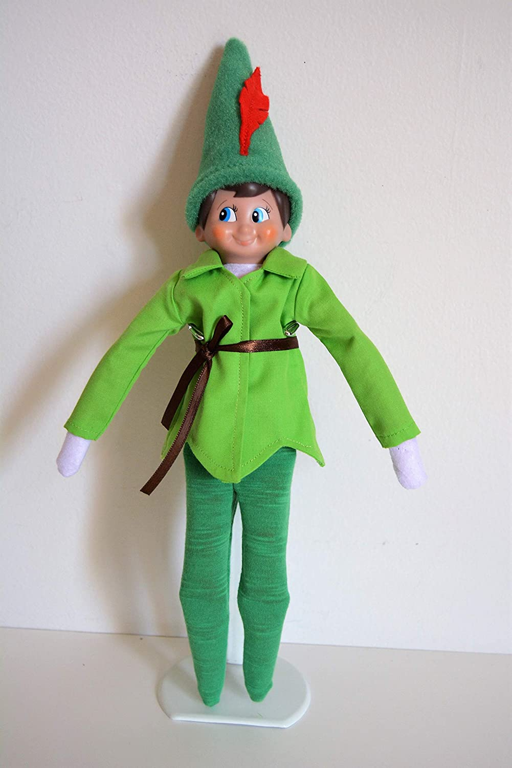 Handmade Doll Clothes Peter Pan Costumes fits the Elf Soft Doll Christmas