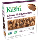 Kashi, Chewy Nut Butter Bars, Salted Chocolate Chunk, Vegan, Gluten Free, Non-GMO Project Verified, 6.15 oz (5 Count)