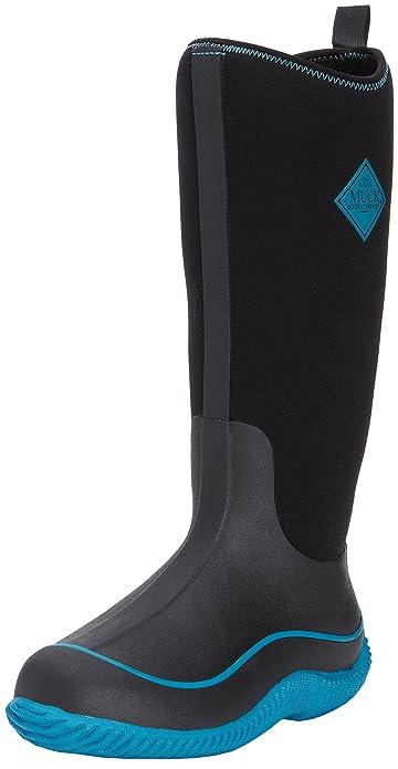 Muck Boots Hale, Women Warm Lining Rain Boots, Black (Black/Harbor Blue