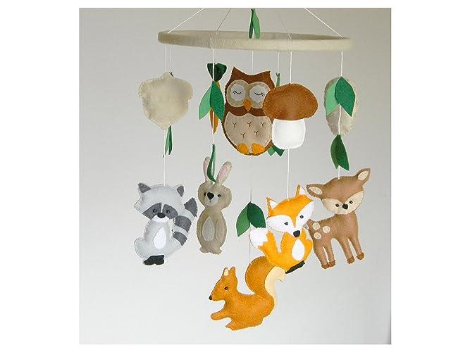 amazon com woodland mobile woodland nursery mobile animals mobile