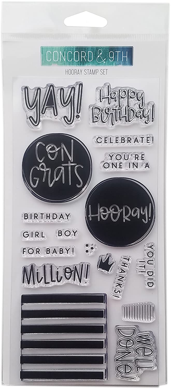 Concord & 9th 10232 Clear Stamps 4'X8'-Hooray