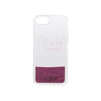Dulceida Glitter - Carcasa para Apple iPhone 6/7/8, Color Rosa