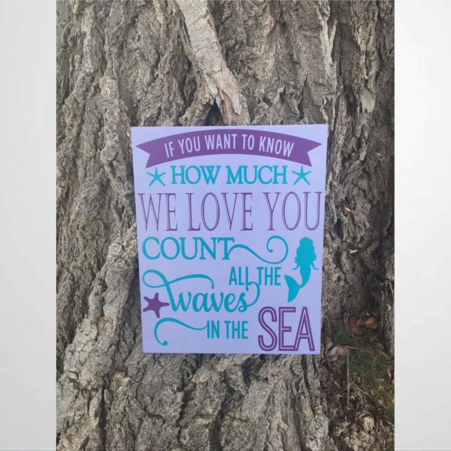 BYRON HOYLE Nautical Mermaid Wood Sign,Wooden Wall Hanging Art,Inspirational Farmhouse Wall Plaque,Rustic Home Decor for Living Room,Nursery,Bedroom,Porch,Gallery Wall