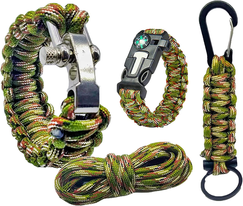 Pulsera supervivencia paracord 550 kit de supervivencia accesorios | Survival kit supervivencia cuerda paracord pulsera montaña | Pulsera paracord ...