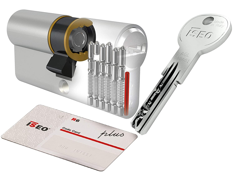 CILINDRO ISEO R6 PLUS MM. 30X40 5 CHIAVI SECURITY CARD Salone-negozio-online