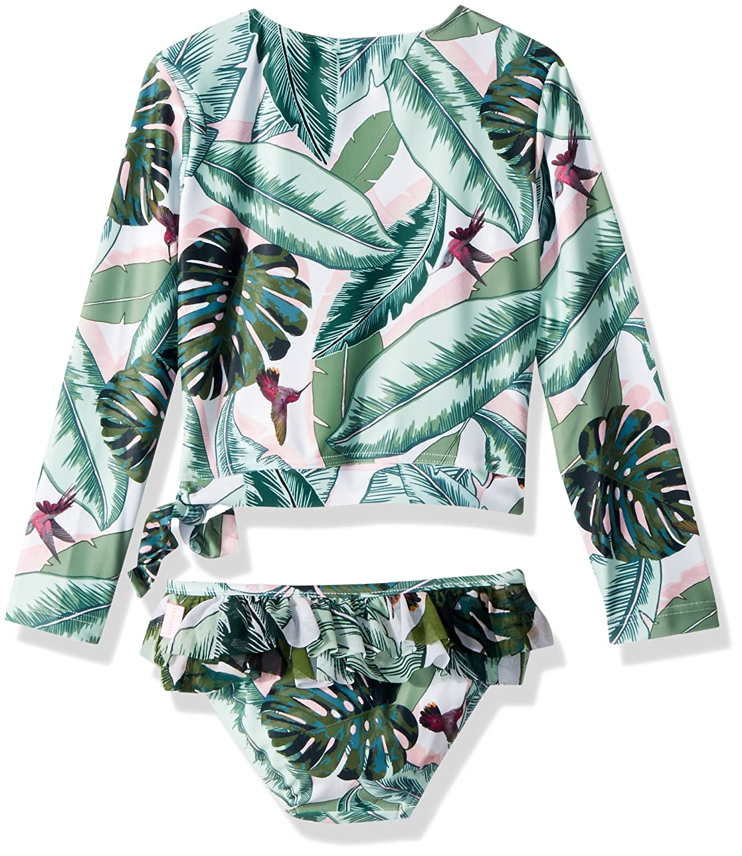 Seafolly Little Girls L//S Ballet Rash Guard Set Swimsuit 27024T