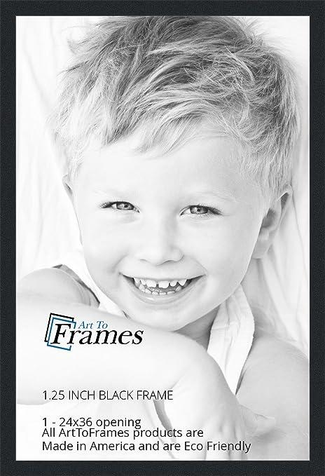 amazoncom arttoframes 24x36 inch black picture frame womfrbw72079 24x36 single frames