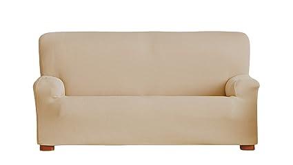 Eysa Funda de sofá elástica, Beige, Tres Plazas