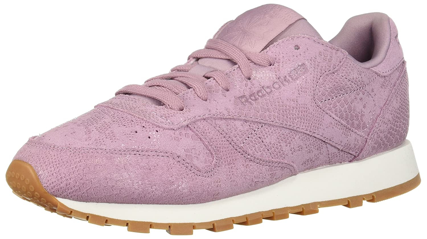 Reebok Women's Classic Leather Sneaker B077Z9HHC8 9.5 B(M) US|Exotics-infused Lilac/Cha