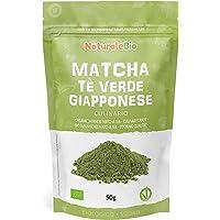 Biologische Matcha Thee in poeder [CULINAIRE KWALITEIT] 50 gram. Bio Japanse Groene Matcha-Thee. Geproduceerd in Uji…