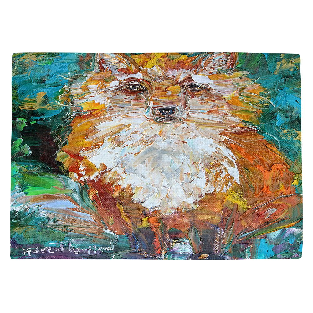 DIANOCHEキッチンPlaceマットby Karen Tarlton – The Fox Set of 4 Placemats PM-KarenTarltonTheFox2 Set of 4 Placemats  B01EXSHDMM