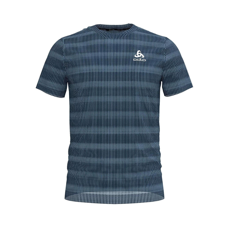 Mens Bl Top Crew Neck S//S Ceramicool Blackcomb T-Shirt オドロ odlo