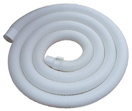 Neerjharini 2 Meter Corrugated Plastic Waste Water Outlet Drain Hose Pipe for All Top Load Fully/Semi Automatic Washing Machine