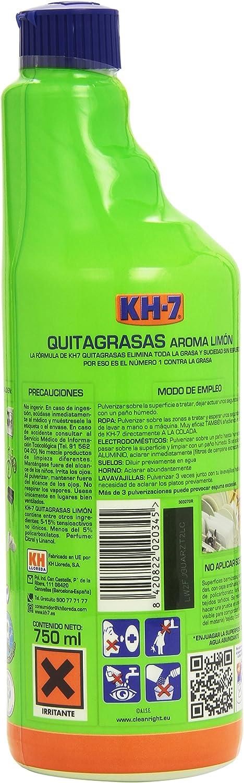 KH-7 - Quitagrasas - Aroma limón - 750 ml - [pack de 3]: Amazon.es ...