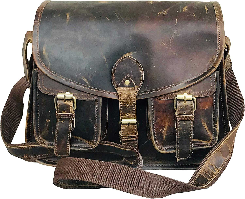 MCuero Black Leather bag Handcrafted Real Leather Briefcase Laptop Backpack Shoulder Bag Travel Bag 16