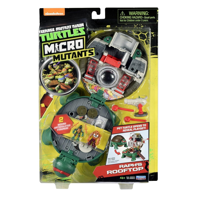 Teenage Mutant Ninja Turtles Micro Mutant Raphaels Roof Top Pet to Turtle Playset