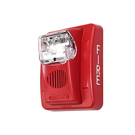 gentex gec3-24wr 24vdc selectable candela low profile evacuation horn &  strobe - red faceplate - other products - amazon com