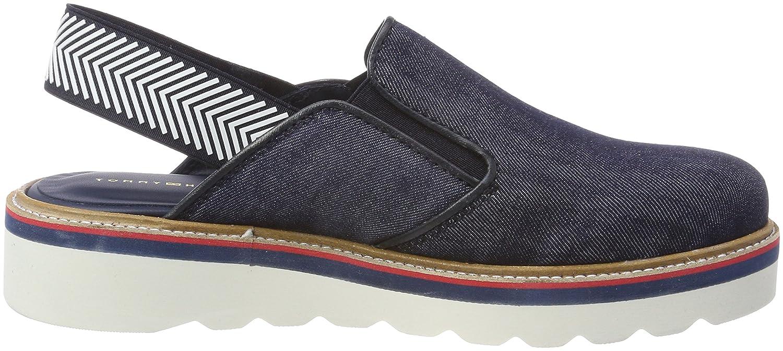 Tommy Hilfiger Sporty Denim Slip On, Mocasines para Mujer: Amazon.es: Zapatos y complementos