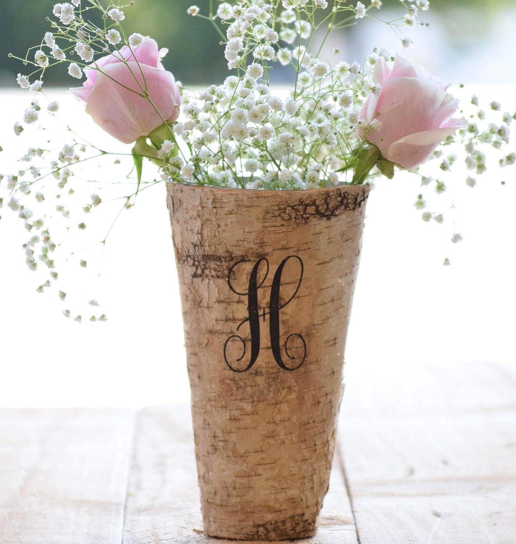 Personalized Birch Vase Engraved Birch Vase Wood Planter Personalized Wedding Gift 9 Vase Birch Bark Vase Anniversary Gift