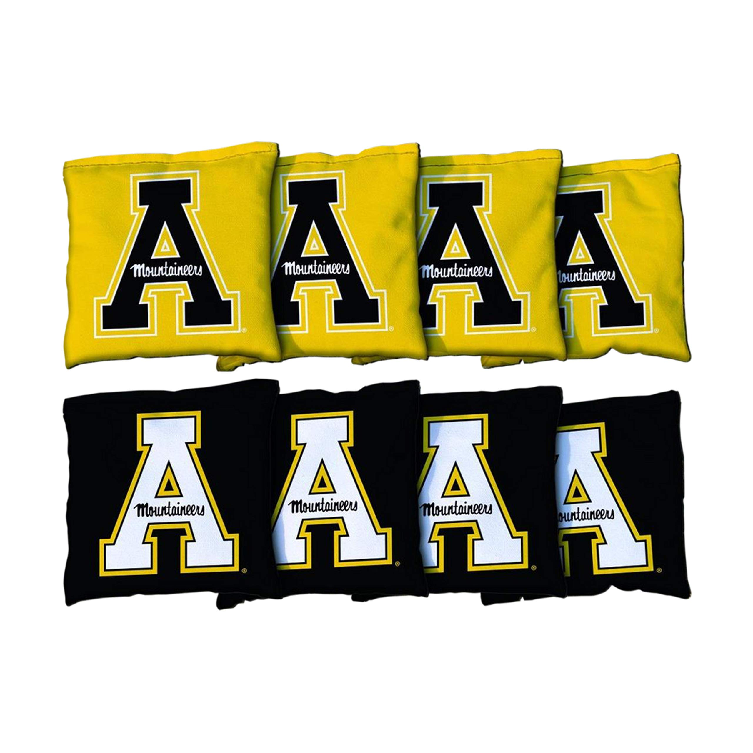Victory Tailgate NCAA Regulation Cornhole Game Bag Set (8 Bags Included, Corn-Filled) - Appalachian State Mountaineers Version 2