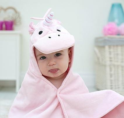 Toalla de bebé unicornio rosa