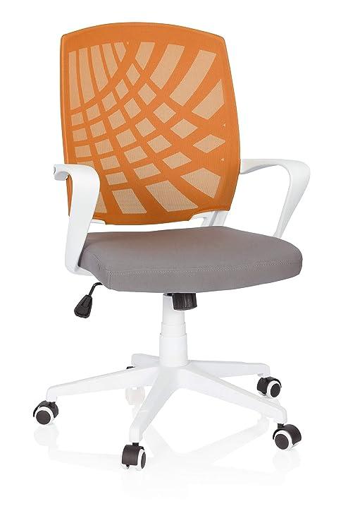 Sedie Da Ufficio Arancione.Hjh Office 621976 Sedia Girevole Home Office Spring Tessuto Grigio