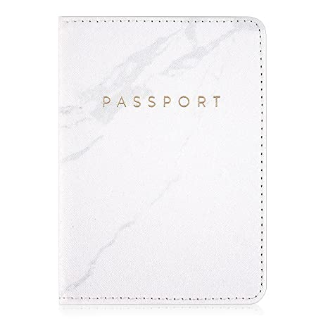 9c30a3a0e4c6 Leminimo Leather Marble Passport Cover Passport Holder With RFID Blocking -  Marble Print Passport Case Travel Wallet
