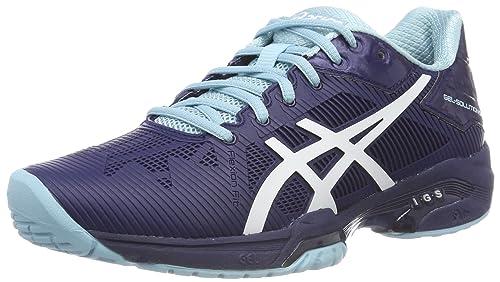 Speed FemmesBlanc Chaussures Solution De Tennis Asics Gel 3