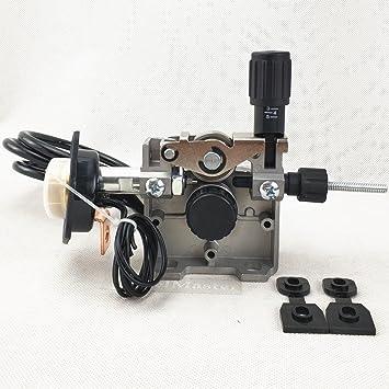 Alimentador de alambre, Ensamblaje de alimentación de alambre de soldadura DC 24V / 12V, para soldador MIG/MAG Soldadora (Versión DC 12V): Amazon.es: ...