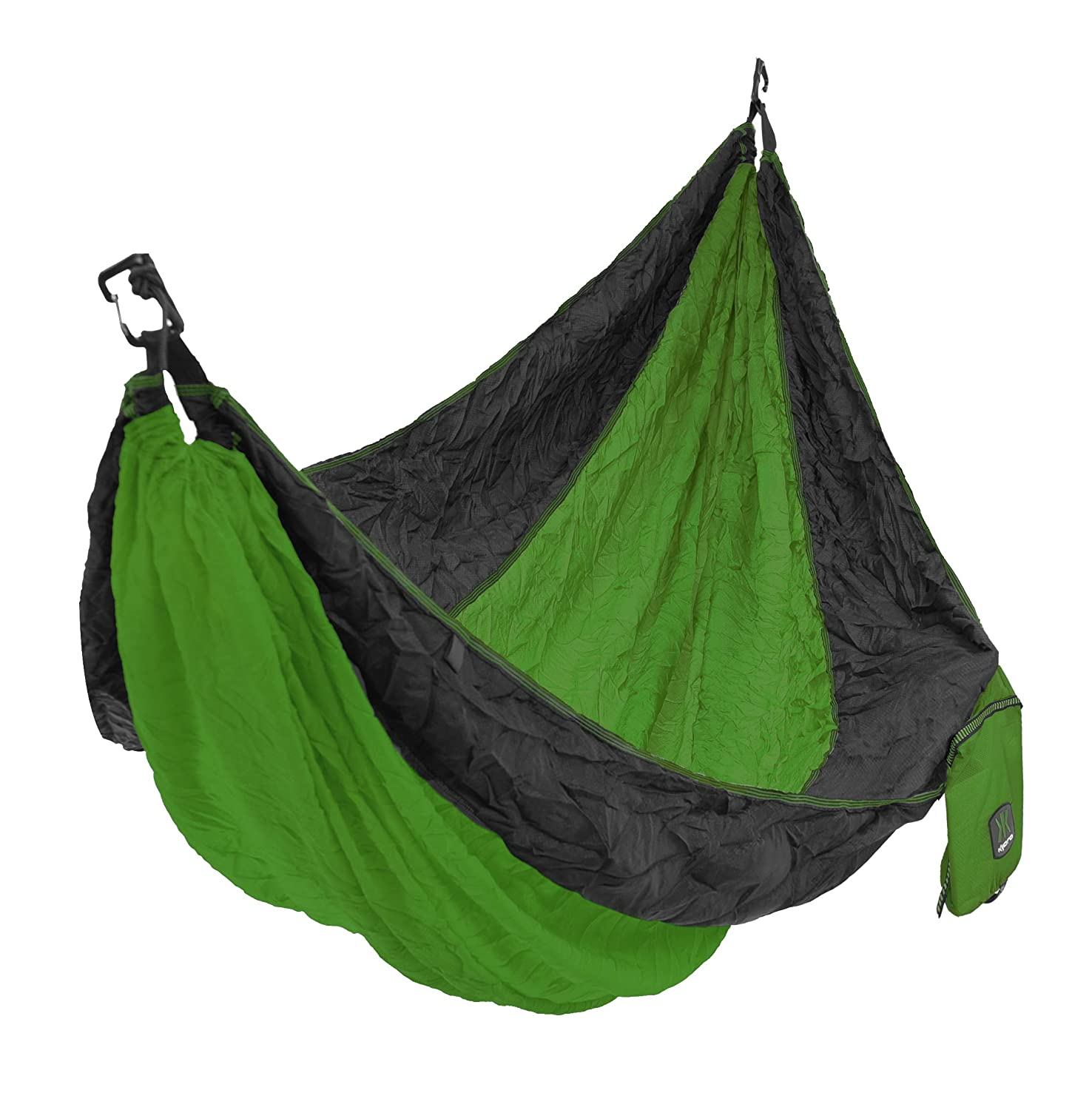 Durable Nylon Ripstop with 2 Carabiners Ionian Turquoise 80720 Kijaro Double Lightweight Portable Camping Hammock