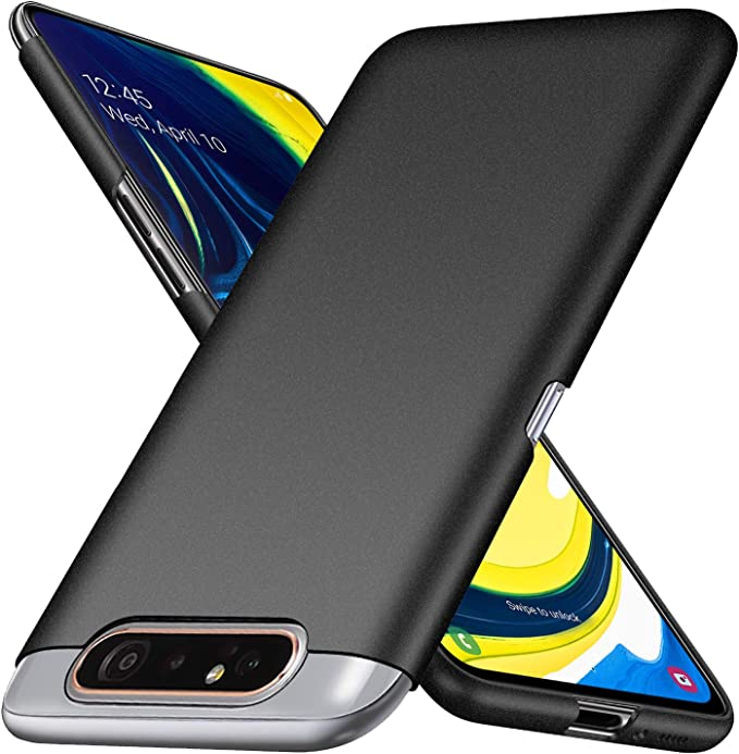 Black Color : Black DDTAO Battery Back Cover for Galaxy A80