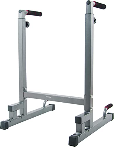 BalanceFrom Multi-Function Dip Stand Dip Station Dip bar with Improved Structure Design, 500-Pound Capacity