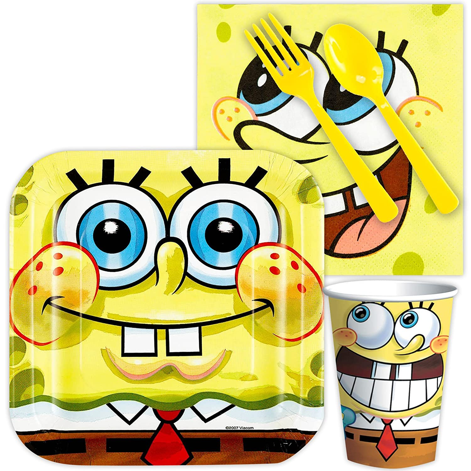 Amazon Spongebob Party Supplies Standard Kit Serves 8 Guests