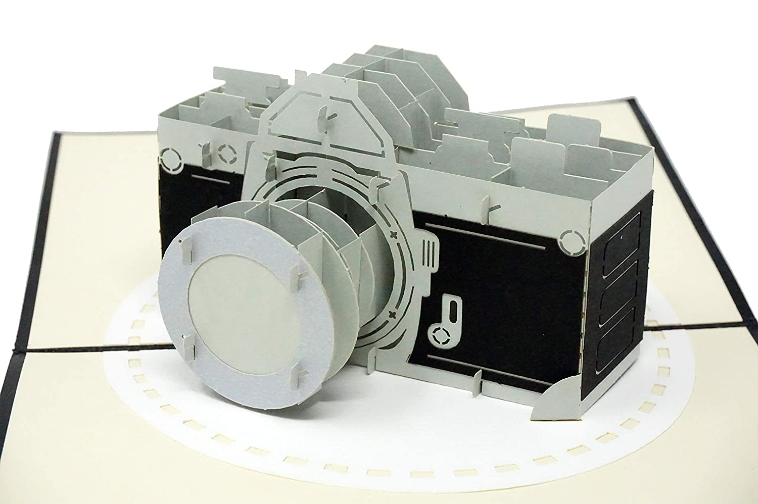 Camera - WOW 3D Pop Up Greeting Card for All Occasions - Birthday, Congratulations, Good Luck, Anniversary, Get Well, Love, Good Bye …
