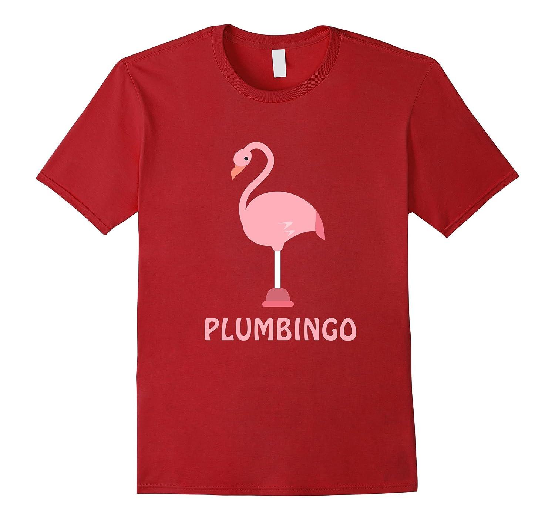 d6ef58dc Plumbingo – Plumber – Funny Cute Flamingo Animal T Shirt-TJ – theteejob