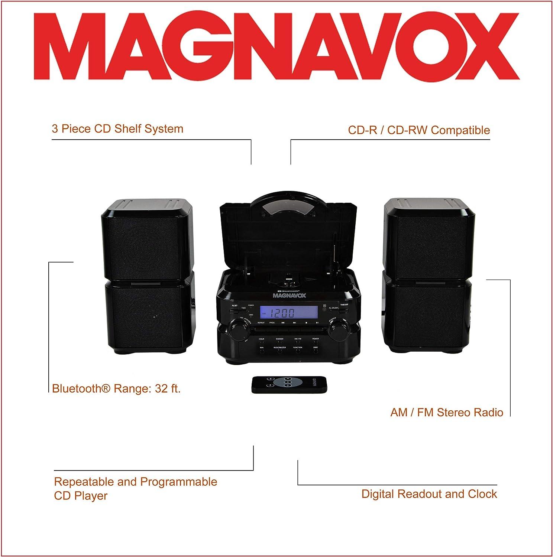 Magnavox MM435-BK 3-Piece Compact CD Shelf System