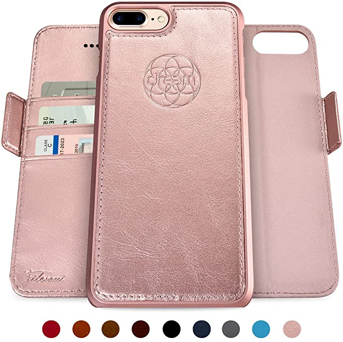 quality design 59cf7 1b6c4 Dreem Fibonacci 2-in-1 Wallet-Case for iPhone 8-Plus & 7-Plus, Magnetic  Detachable Shock-Proof TPU Slim-Case, Wireless Charge, RFID Protection,  2-Way ...