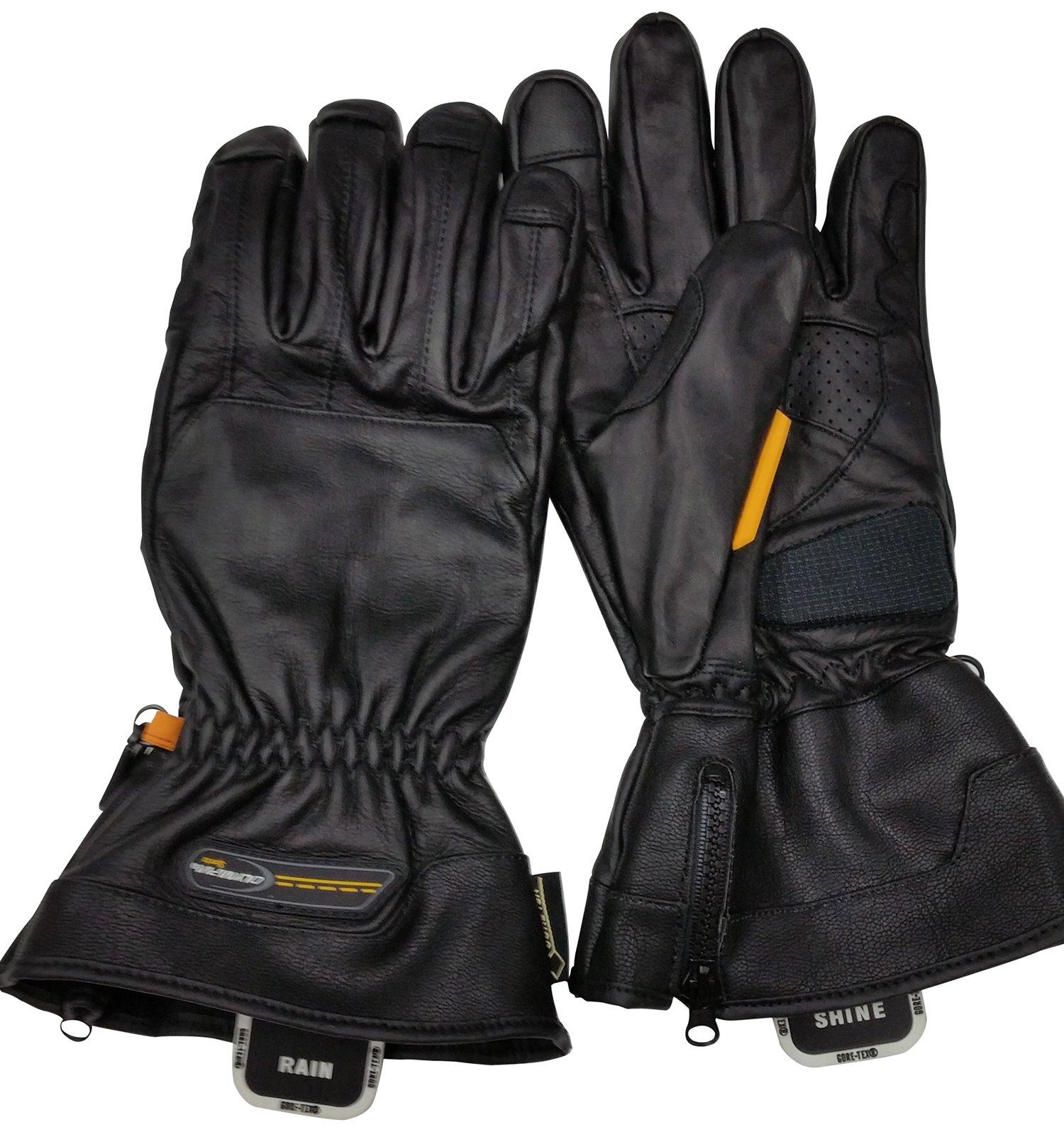 Olympia Sports Men's Gore-Tex Rain or Shine Gloves (Black, Large)