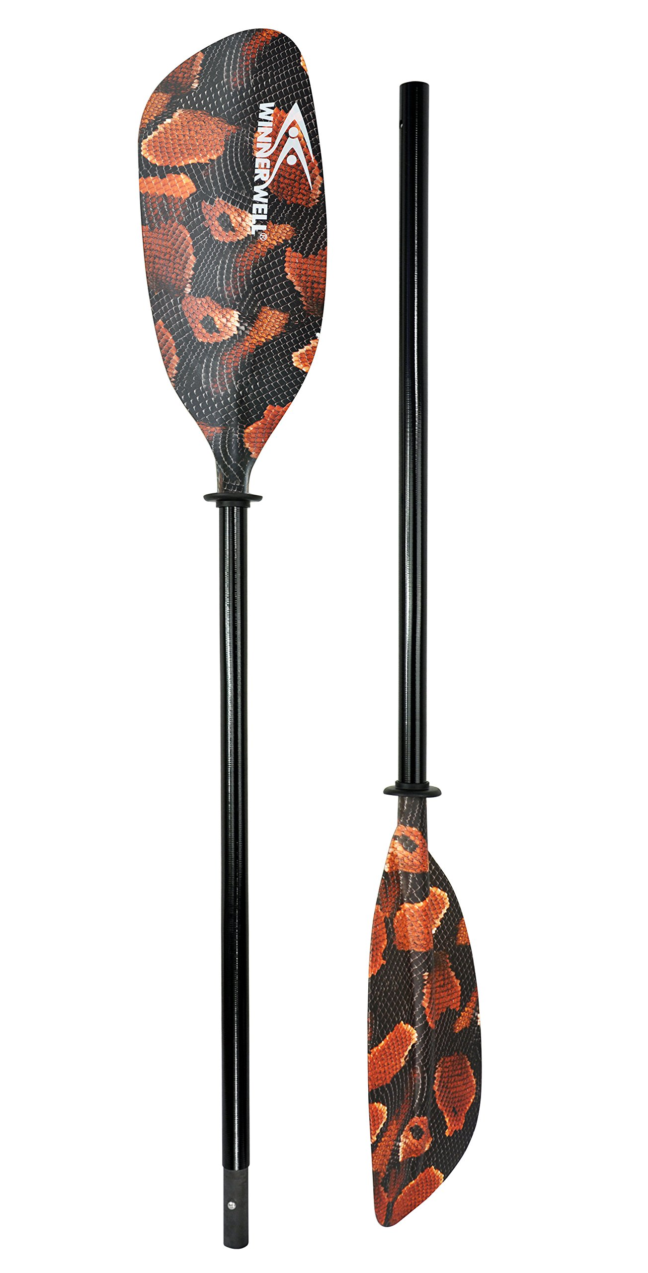 "Lightweight Unsinkable Two Piece Construction Touring Kayak Paddle 86/"" 220cm"