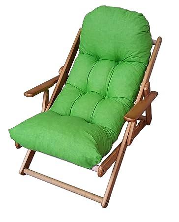 Sessel Liegestuhl Relax Aus Holz Klappbar Harmony Luxus Kissen Super Gepolsterte H 100 Cm Wohnzimmer Kche