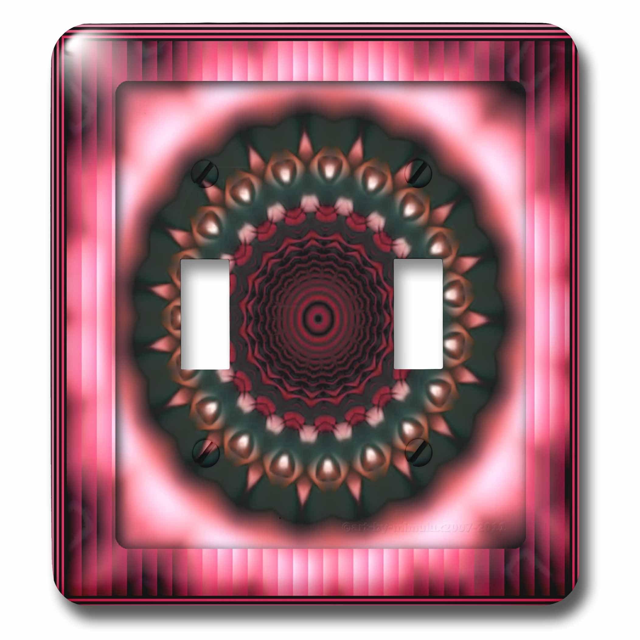 3dRose LLC lsp_26763_2 Mandala Pink Zen Meditation Orient India Inner Harmony Peace Chakra Spirituality Flowerpower Double Toggle Switch