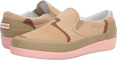 Hunter Original Canvas Plimsoll Desert Camo Slip-On Sneaker Ka82Tj7v