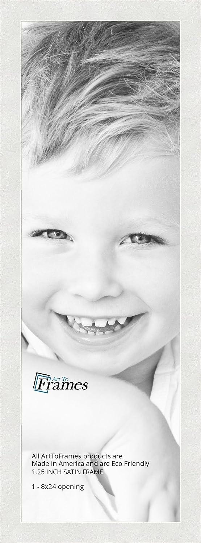 Amazon.com - ArtToFrames 8x24 inch Satin White Frame Picture Frame ...