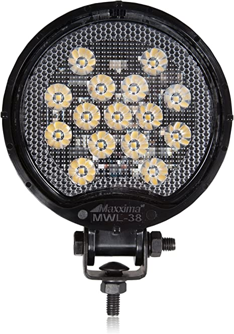 Amazon Com Maxxima Mwl 38 Black Round 15 Led Work Light