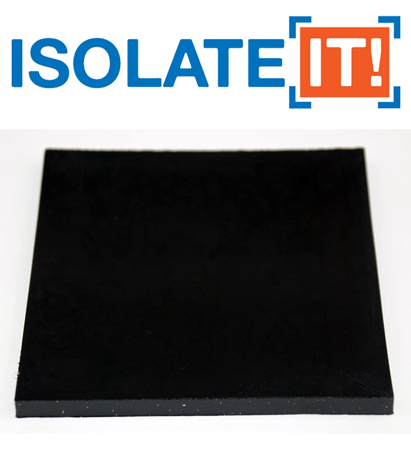 3//8 Thick 4 x 4 2-Pack 0204037-50-10 Isolate It Sorbothane Vibration Isolation Square Pad 50 Duro