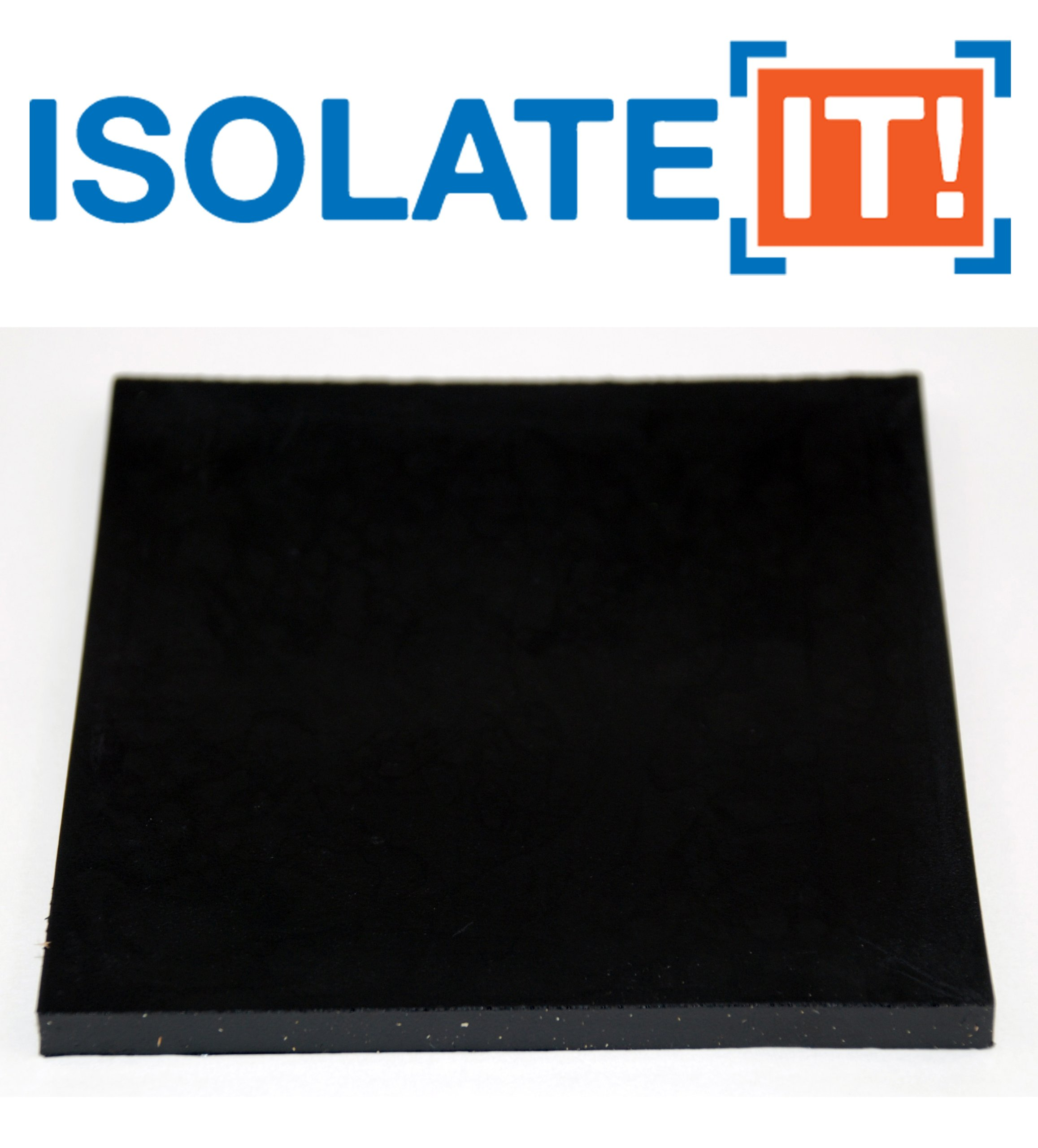 Isolate It: Sorbothane Vibration Isolation Square Pad 50 Duro (.25'' Thick 4'' x 4'') 2-Pack