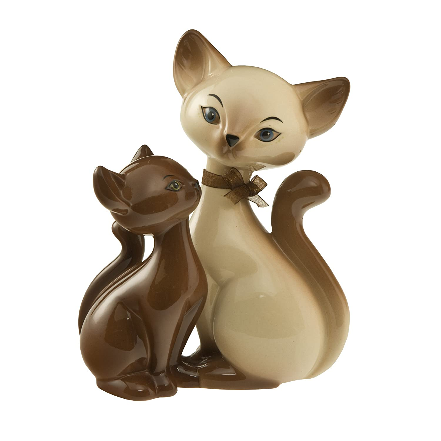 Goebel, Porzellan-Katzenpaar, Siam Kitty in Love, 12,5 cm x 7,5 cm x 18 cm, 66800601