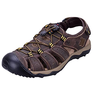 52f951c093c2 WhiFan Men s Summer Sports Outdoor Walking Sandals Close Toe Strap Trekking  Shoes Breathable Water Sandal Size