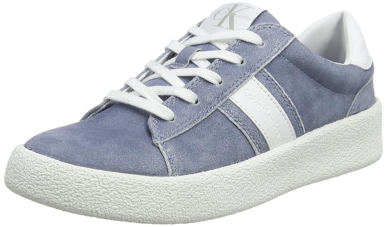 Calvin Klein Jeans Gaia Suede/Smooth, Zapatillas para Mujer, Blanco (Dnw 000), 36 EU