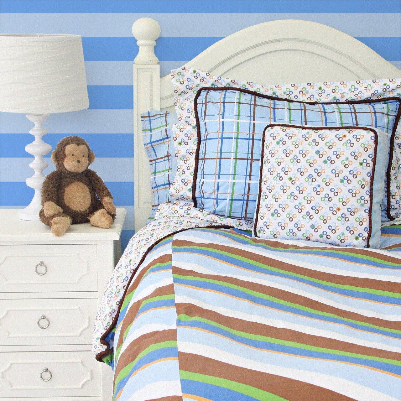 Caden Lane Boutique Boy Duvet Cover, Blue, Twin 1BOUBTD